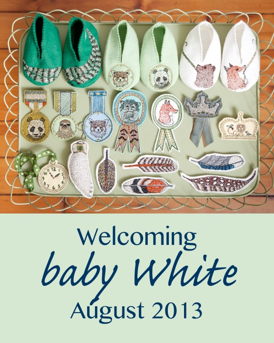 baby white announcement
